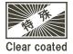 Clear coated