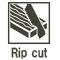 Rip cut